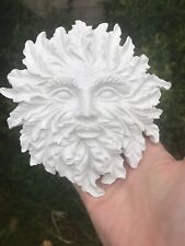 Green Man Wall Plaque, Latex Rubber Craft Mould Reusable Art, Hobby Wicca, Pagan