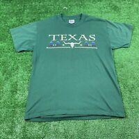 Vintage 1995 Texas T Shirt Green Size Medium Men's Tribal Southwestern