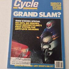 Cycle Magazine BMW K100RS Special Harley Softail November 1988 061417nonrh