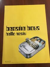 Beastie Boys Hello Nasty 1998 promo poster 18x24 yellow
