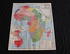 Affiche scolaire Le Partage de l' Afrique Guerre de 1870 1871 Indochine conquête