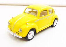 """Volkswagen Beetle Classic 1967 Jaune 1/64 """"3 Inche"""" Diecast NEUF"""