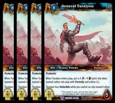 4x General Turalyon Betrayal of the Guardian Epic 63 World Warcraft WoW TCG