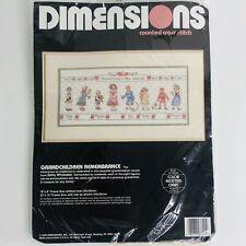 Vintage Dimensions Grandchildren Remembrance 1990 Counted Cross Stitch Kit