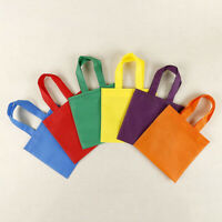 20Pcs Party Favor Bags Non-Woven Treat Bag with Handle Rainbow Colour Gift Totes