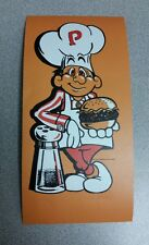 Burger Time cabinet art sticker. 4 x 8. (Buy any 3 stickers, GET ONE FREE!)