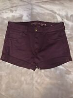"American Eagle Super Stretch ""Hi-Rise Shortie"" Shorts Plum (Size 10)"