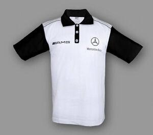 Neu Herren Mercedes AMG Gestickte Polo Shirt T-Shirt Auto Fan Bekleidung Team