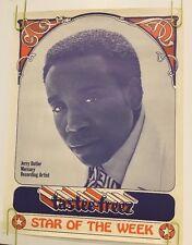 Jerry Butler Tastee Freez Poster Vintage Original Pin-up 1960s Music Memorabilia