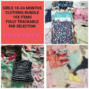 Baby Girl Clothing 18-24 Months 1.5-2 Bundle Job Lot - 10 Items Sent To You
