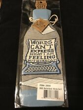 New Primitives By Kathy Lol Bottle Socks - Words Can't Express.but Wine Can