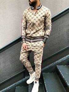 Sport Suits 3D Print Fitness Zipper Hoodies Sweatpants Slim Casual Tracksuits