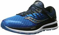 Saucony Men's Triumph ISO 2 Running Shoe, Blue/Black/Silver, Size 12.5 x3aw