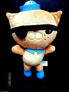 "Octonauts soft toy plush Kwazii Cat Cuddly Pirate Eye Patch 8"" Fisher-Price 2011"