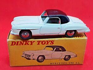 Vintage French Dinky Mercedes 190SL #24H Original Excellent Box