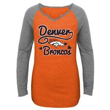 Denver Broncos NFL Girls' Long-Sleeve T-Shirt, Size Medium (10/12) New With Tags