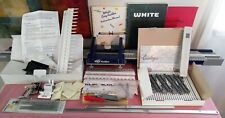 White Magic Knitter 9mm knitting machine(France) manual/tools and unique devices