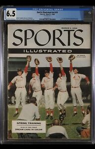 SPORTS ILLUSTRATED NEWSSTAND 1956 STAN MUSIAL CGC 6.5 FIRST ROOKIE COVER