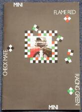 MINI Range Sales Brochure 1990 #4152 RACING GREEN Check Mate FLAME RED Cooper