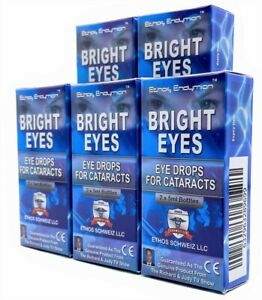 Ethos Bright Eyes NAC Eye Drops for Cataracts 5 Boxes 50ml
