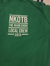 Nkotb The Main Event Tour Local Crew T Shirt Xl Green