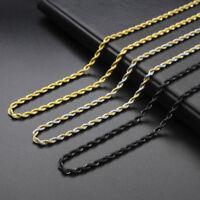 Collana da Uomo Donne in acciaio Acciaio inossidabile di titanio massiccia 3 5mm