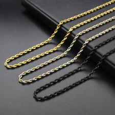Collar/Cadena para hombres y mujeres de Acero inoxidable titanio Oro negro 3 5mm