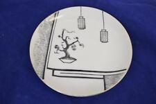 Vtg 1960 Hand Painted Japanese Nikoniko Import Collectible Plate w/ Bonsai Tree
