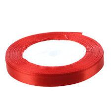 "3/8"" 10mm 25 Yards Satin Ribbon Roll Craft DIY Decoration Red C2E4"