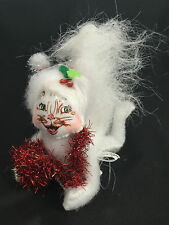 """ANNALEE 4"""" SILVER SPARKLE KITTY - NEW with TAG - 2013  (3565)"""