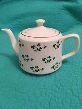 VTG Irish Carrigaline Pottery Teapot W/Shamrocks☘️•Made In Ireland