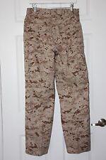USMC BDU MARPAT Desert Camouflage Combat Trouser Set ~ Small Short