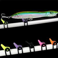 10 Pcs/set Fishing Rod Secure Hook Keeper Holder Lures Jig With Rubber Rings Kit