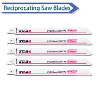 5 x S1122BF 225mm 14T Réciproque Lames de scie sabre pour couper métal
