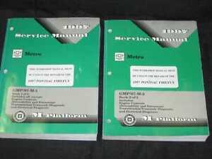 1997 Chevrolet Metro,Firefly Shop Manual 2 Vol Set