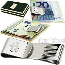 DALVEY (2in1) Geldklammer, Edelstahl Dollarclip Geldschein Klammer Geld Clip NEU