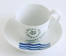 REAL Copenhagen Blanco estriado FIRMA Taza de café NUEVO