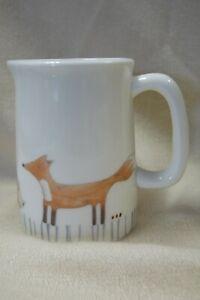 Julia Davey Somerset Ceramic Hand Decorated Milk Jug Woodland Animals 7.5cm D22