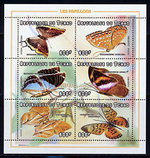 CHAD 1998 BUTTERFLIES SHEET OF 6 DIFFERENT SCOTT 772