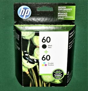 HP 60 Black & Tri-color Combo Pack New Expires Sept 2022 New Unused Low Shipping