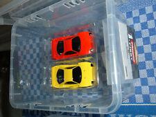 Carrera 1.FIRST Autorennbahn Slot Cars 2 Ferraris Carrera Rennbahn + Schleifer