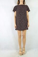 ZARA Basic Black Ruffle Back Polka Dot Dress Size S 8-10