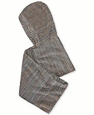 $325 HUGO BOSS Mens GRAY HOODED KNIT SCARF WOOL SCARVES WINTER Wrap HAT SHAWL
