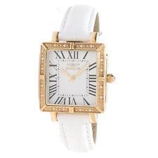 "Invicta Women's 14846 ""Wildflower"" Square  White Leather Watch"