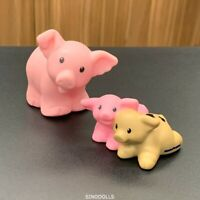 Fisher Price Little People Farm Barn Pig Swine Hog & Piglets Pig Brown & Pink