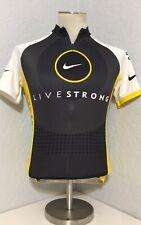 Men's Nike Livestrong Cycling Jersey Road Bike Shirt SZ S Yellow/Black