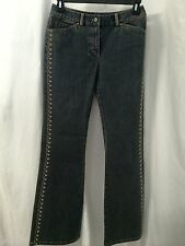 ELIE TAHARI JEANS WITH EMBROIDERED DETAIL SIZE 6 X 33