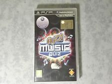 BUZZ! THE ULTIMATE MUSIC QUIZ -SONY PLAYSTATION PSP ITALIANO NUOVO NON SIGILLATO