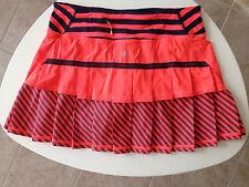 Lululemon Pacesetter Skirt Flare Inkwell Orange Blue Stripe size 4 RARE