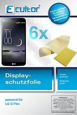 6x LG G Flex Protector de Pantalla protectores transparente